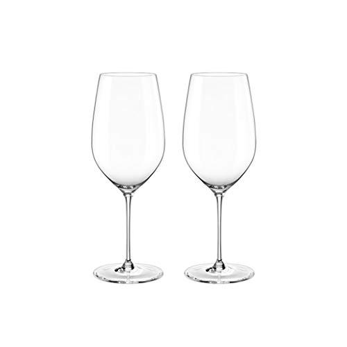 ZHIHUI Copas de Vino Tinto Copas de Vino Grandes Conjunto Soplado A Mano de 2 Copas de Vino Transparente Rojo de Cata de Vinos Premium para Bodas (Color : ClearA)