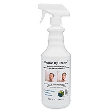 Fogless By Design Bathroom Mirror Anti-Fog Spray, 32 fl. oz