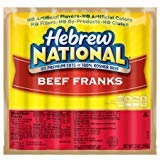 Hebrew National Beef Franks, 12 Oz (24 Pack) 168 Total Hotdogs