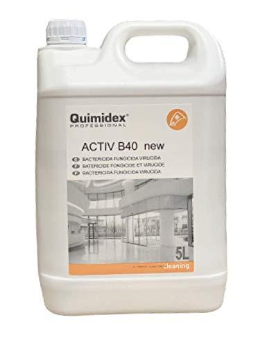 ACTIV B 40 NEW. LIMPIADOR DESINFECTANTE MULTIUSOS: Bactericida, Fungicida y Virucida. Desinfectante de superficies y suelos. Desinfectante Spray (5 LITROS)