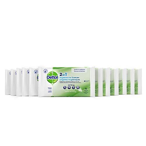 DETTOL 2 en 1 toallitas higiénicas – Pack de 12
