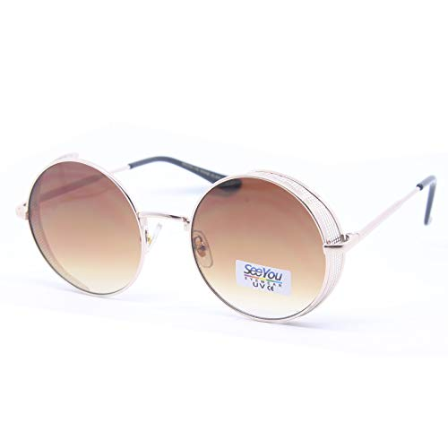 Seeyou - Gafas de sol redondas para mujer y hombre