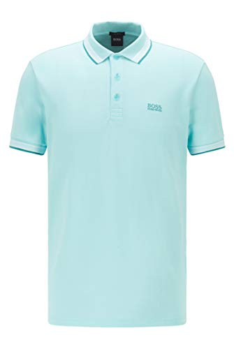 BOSS Paddy Camiseta Polo, Azul (Open Blue 482), S para Hombre
