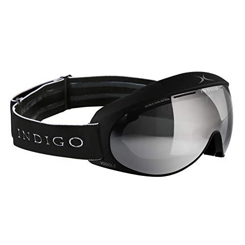 Indigo Voggle Ski-Brille Mirror Chrome   Slim Fit   Schwarz   Ski & Snowboard Brille   Hochwertige Qualität