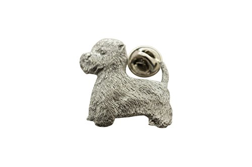 West Highland White Terrier or Westie Pin ~ Antiqued Pewter ~ Lapel Pin ~ Sarah's Treats & Treasures