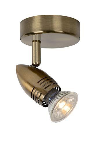 Lucide CARO-LED - Spot Mural - Ø 9 cm - LED - GU10 - 1x5W 2700K - Bronze 03
