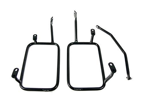Kofferdrager reserveonderdeel voor/compatibel met BMW R1200GS / Adventure LC roestvrij staal zwart zijkoffer houder