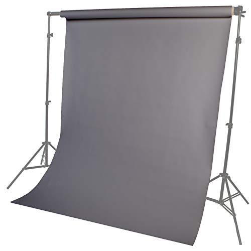 Fotostudio Papierhintergrund Haustier, Produkt, Porträtfotografie 1,35 m Breite 10 m Länge Grau Lencarta