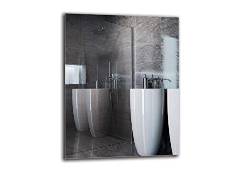 Espejo Standard - Espejo sin Marco - Dimensiones del Espejo 70x90 cm - Espejo de baño - Espejo de Pared - Baño - Sala de Estar - Cocina - Hall - M1ST-01-70x90 - ARTTOR