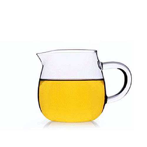 WxberG Jarra de vidrio con boquilla, jarra de té pequeña jarra de cristal, tazas de 300 ml con mango Teaware bebedero (color: tipo 2)