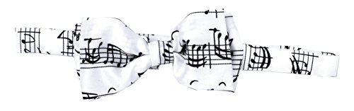 Générique noeud-papillon bach notes white