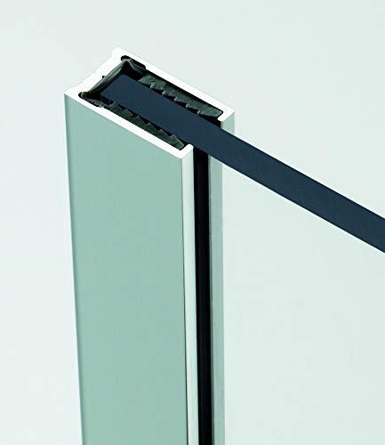 Mampara de ducha de vidrio templado con decoración LaserVision_019, ducha de cristal, grabado láser, varios diseños y dimensiones, incluye perfiles en cromo (versión estándar), 1200x2000mm: Amazon.es: Hogar