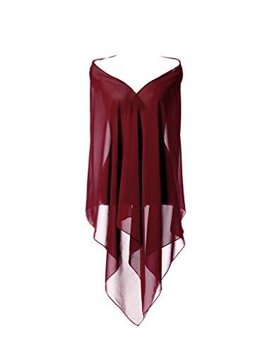 CoCogirls Chiffon Stola Schal für Kleider in verschiedenen Farben zu jedem Brautkleid - Abendkleid, Hochzeit Abend Gala Empfang (One-Size, 52 1)