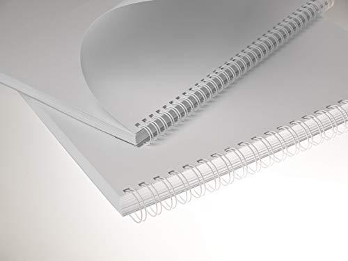 100 RENZ Drahtbinderücken STARTERSET 3:1 (6.9-14,3 mm), weiß, Drahtkämme
