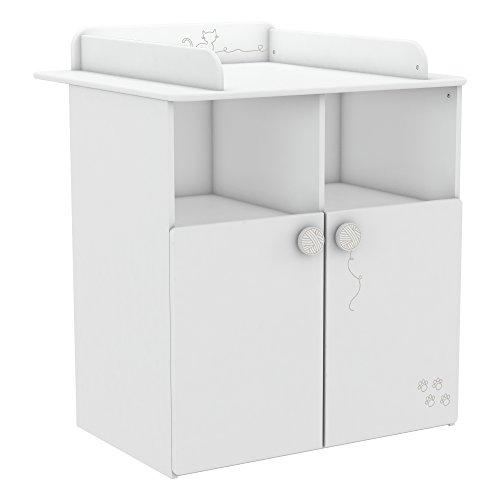 Demeyere - Cofre con cambiador superior, color blanco perla, 83 x 73 x 99 cm