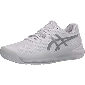 ASICS Men's Gel-Resolution 8 Tennis Shoes, 10, White/Pure Silver