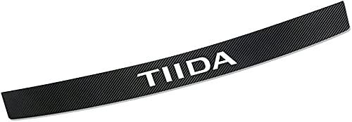Coche Fibra de Carbono Protector de Parachoques Trasero,para Nissan Tiida Cubierta de la Placa del Umbral del Maletero Trasero Anti-Arañazos Protector Pegatinas,Accesorios Estilo Coche