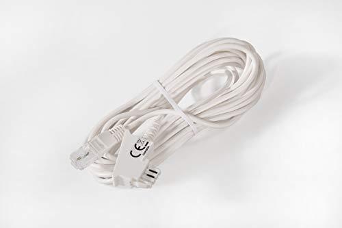 COXBOX 5 m DSL Kabel Fritzbox, Speedport, Easybox - TAE Kabel RJ45 weiß - VDSL ADSL WLAN Router-Kabel mit Twisted Pair für eine zuverlässige Verbindung
