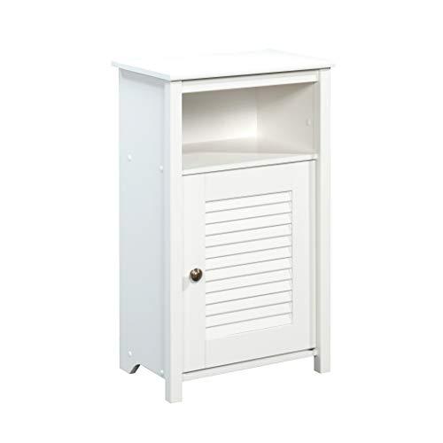 Sauder Peppercorn Floor Cabinet, Soft White Finish