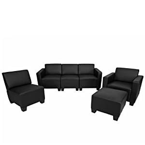 Style lounge moderne Pour emploi milieu hôtelier Similicuir (100% polyuréthane) Finitions haut de gamme Rembourrage épais pour un plus grand confort [Méridienne]