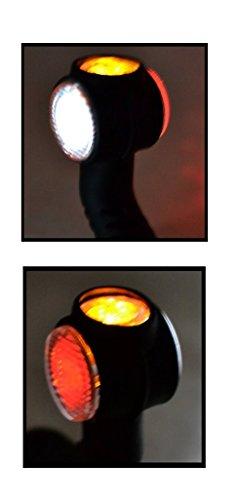 2x-24V-LED-Seitenmarkierungsleuchten-Hochwertig-Begrenzungsleuchten-Positionsleuchten-Gelb-Rot-Wei-LKW-Anhnger-Neu