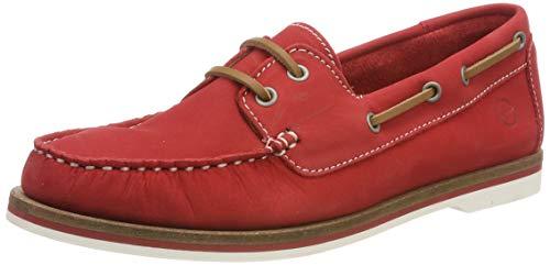 Tamaris Damen 1-1-23616-22 601 Sneaker, Rot (Red Nubuc 601), 38 EU
