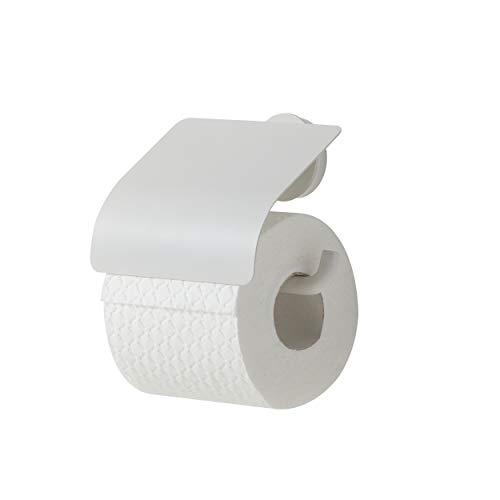 Tiger Urban Toilettenpapierhalter mit Deckel, schwenkbar, Farbe: Weiß, mit austauschbaren Dekor-Ringen zur individuellen Gestaltung