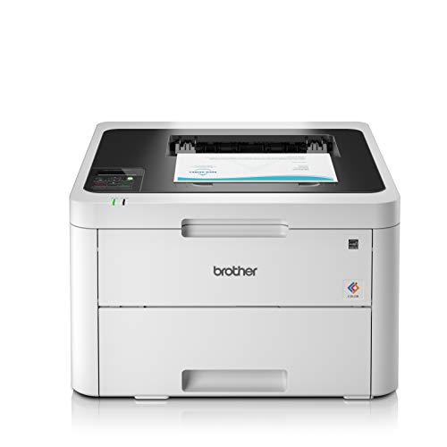 Brother HL-L3230CDW Colour Laser Printer - Single Function, Wireless/USB 2.0, 2 Sided Printing, A4 Printer, Small Office/Home Office Printer