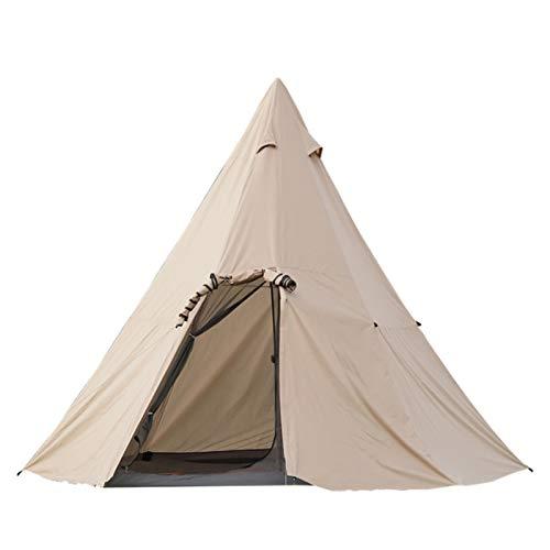 HHOSBFSS 3 Temporadas Al Aire Libre A Prueba De Lluvias De Dos Habitaciones, Tienda De Malla Interna, Khaki para Exploradores De Excursiones Y Camping (Color : Khaki)