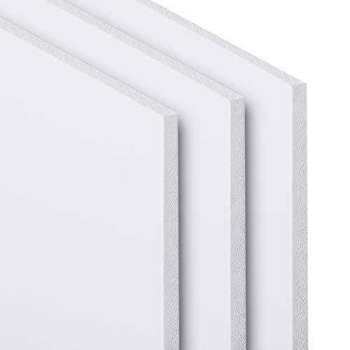 PVC Hartschaumplatte 3-10 mm Kunststoff Platte Weiß Zuschnitt Größe Wählbar 300-1200mm (3 mm, 500 x 1000 mm)
