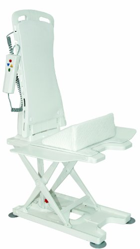 Drive Medical Bellavita - Asiento elevador para baño (con funda), color blanco