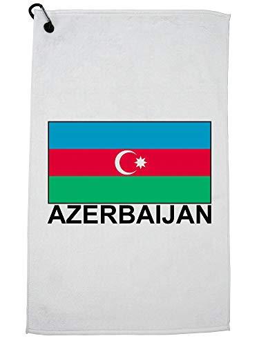 Hollywood Thread Azerbeidzjan Vlag - Speciale Vintage Edition Golf Handdoek met Karabijnhaak Clip