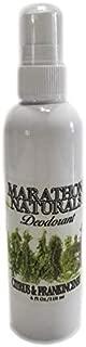 Marathon Naturals Deodorant - Aluminum Free - Alum Free - No Baking Soda - No Parabens - Long Lasting - Organic, Non-GMO Shea Butter - Natural Essential Oils - Spray Mist-4oz. (CITRUS & FRANKINCENSE)