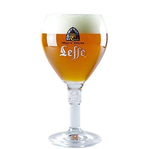 Leffe - Bicchiere da pinta, in vetro, con logo Leffe, 500 ml