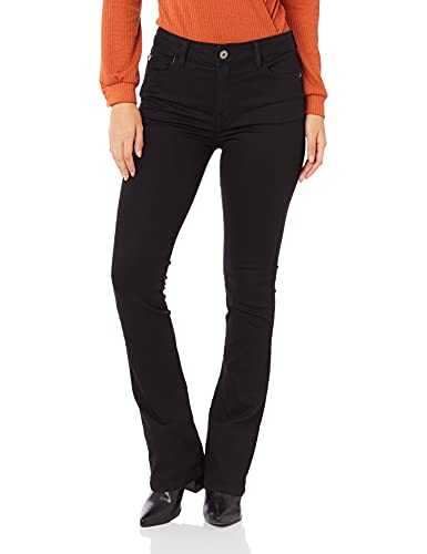 Calça Jeans Storm Elastic Skinny Flare, Ellus, Feminino, Preto, 38