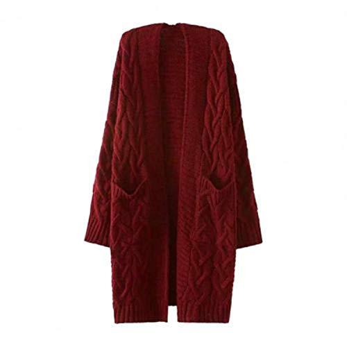 GOOD Cardigan Sweaters Women Autumn Winter Pockets Cardigan Long Sleeve Twist Knitted Mid-Length Coat свитер женский Pull Femme 2021