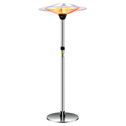 XM&LZ Commercial Electric Outdoor Heater,Ip44 Waterproof Electric Heater Adjustable Height Patio Heater,Infrared Heater Office Party-3000w 75x210cm(29.5x83)