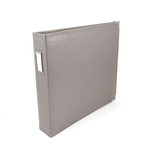 We R Memory Keepers Classic Leather 3-Ring Binder Album, 12 by 12-Inch, Charcoal