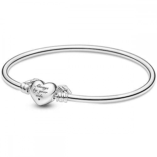 PANDORA Pandora Moments alado corazón brazalete 925 pulsera de plata esterlina 8.3 inches