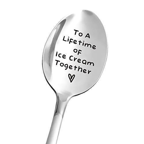 Ice Cream Spoon Engraved for Dad Papa Mom - Funny Ice Cream Spoon Stainless Steel - Best for Girlfriend Wife Dad Husband Boyfriend - Perfect for Birthday/Valentine/Anniversary/Christmas