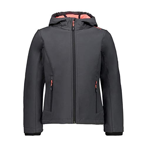 CMP – F.LLI Campagnolo Mädchen Softshelljacke mit ClimaProtect-Technologie 7.000mm, Antracite-Red Fluo, 164