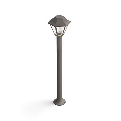 Philips myGarden Curassow Brown Pedestal/post buitenverlichting (wand-/staande lamp voor buiten, bruin, aluminium, E27, 1-lamp, A++,B, C, D, E), zonder lamp