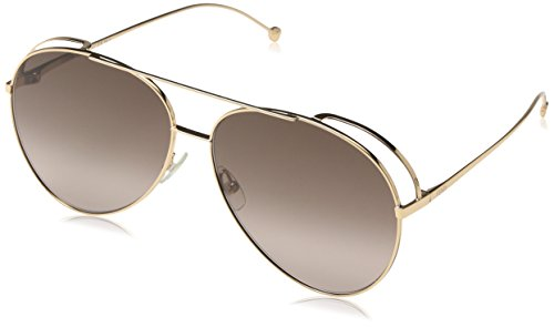 FENDI FF 0286/S HA DDB Gafas de sol, Dorado (Gold Copper/Bw Black Brown), 63 para Mujer