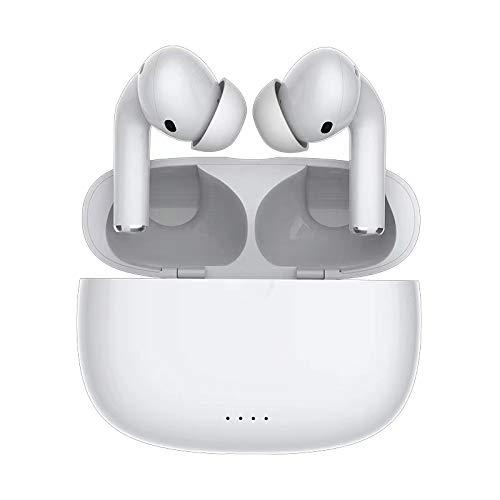 FKH Auriculares Inalambricos, Auriculares Bluetooth Deportivos con Microfono, Auriculares Inalámbricos con 25H de Reproducción, Control Táctil, Auricular para Todos Los Teléfonos Inteligentes