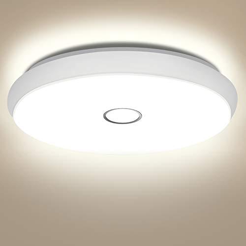 Öuesen Lámpara LED de techo redonda, de color blanco neutro, 4000 K, resistente al agua IP44, 42 W, 3800 lm, para cocina, dormitorio, habitación húmeda, salón, pasillo, oficina, [Clase energética A++]