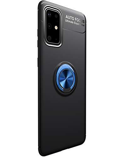 Compatible con Samsung Galaxy S20 Plus, soporte de metal, ultradelgada, funda para teléfono móvil con anillo de 360 grados, soporte magnético para coche, funda protectora antiarañazos, antigolpes
