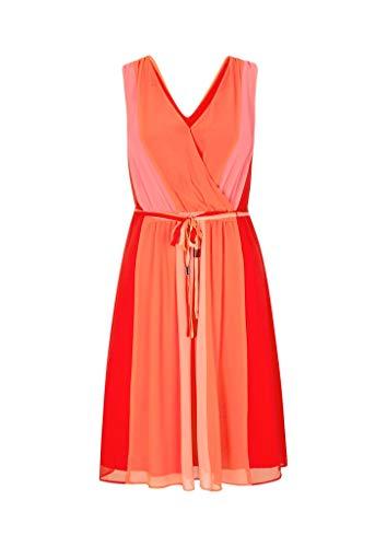 Comma 8E.095.81.3084 Kleid, Damen, Rot 42 EU