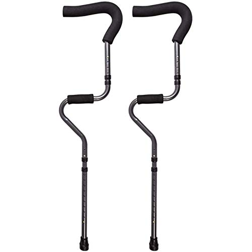 WERT in-Motion Pro Crutches | Foldable, Ergonomic Handles, Spring Assist Technology, Articulating Tips, Ergonomic S-Shaped Design Underarm Adult Medical Crutches(1 Pair)