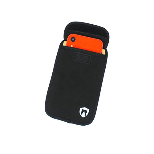 RadiArmor EMF Blocking Cell Phone Sleeve - EMF Blocking Pouch That Fits Most Cell Phones - Updated Version (Black, Large)