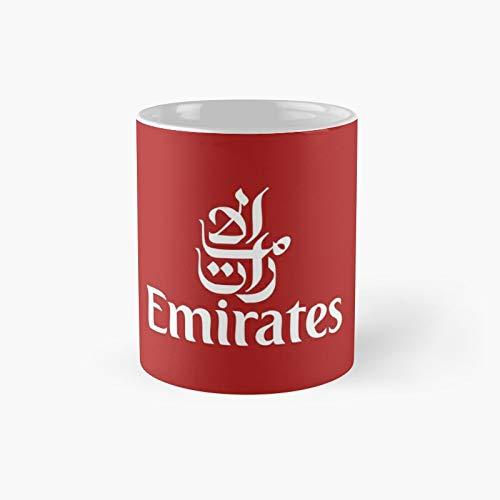 Emirates Airline Logo Fly Classic Mug | Best Gift Funny Coffee Mugs 11 Oz